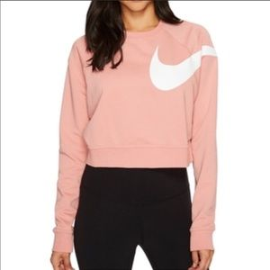 Nike Versa Graphic Crop Top Sweater Size M